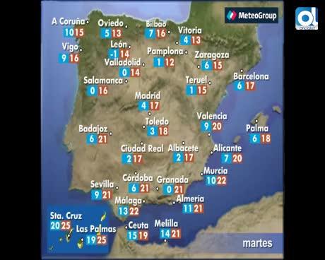 Continúan las lluvias este viernes en el norte de la Península