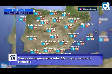 Las temperaturas rondarán los 20 grados en gran parte de la Península