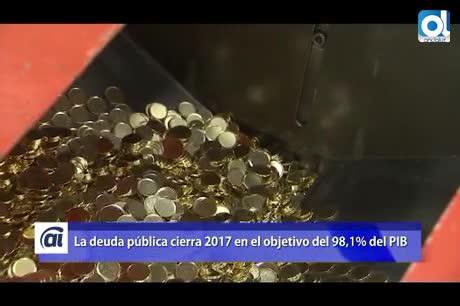 La deuda pública cierra 2017 en el objetivo del 98,1% del PIB