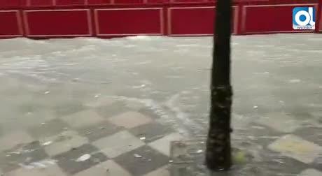 La borrasca 'Félix' se ceba con Jerez y la inunda en media hora