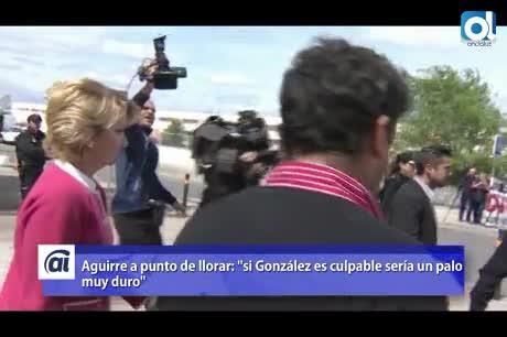 """Aguirre admite que la detención de González es un """"mazazo"""""""