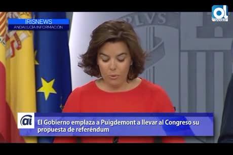 El Gobierno emplaza a Puigdemont a llevar al Congreso el referéndum