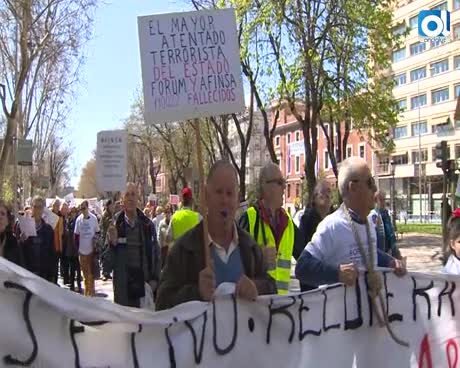 Perjudicados de Fórum y Afinsa se manifiestan en Madrid