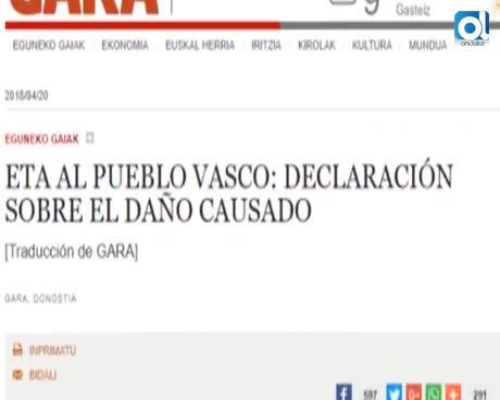 """La banda asesina ETA reconoce el daño: """"Lo sentimos de veras"""""""