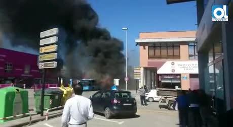 """""""Agoté el extintor y me salí; había cada vez más humo y más llamas"""""""
