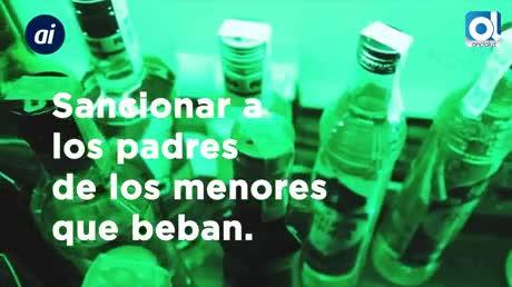 Ley contra el alcohol: sancionar a los padres de los menores que beban