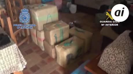 Cae una red de tráfico de hachís con ramificación en Tesorillo