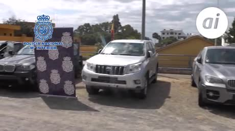 Recuperan en Málaga cuatro vehículos robados para transportar droga