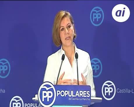 """Cospedal a Sánchez: """"Apoyarse en separatistas le convierte en enemigo"""""""